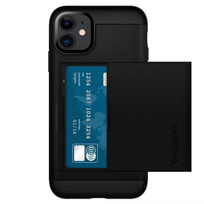 Coque iPhone 11 Spigen® Slim Amor CS-black (90)