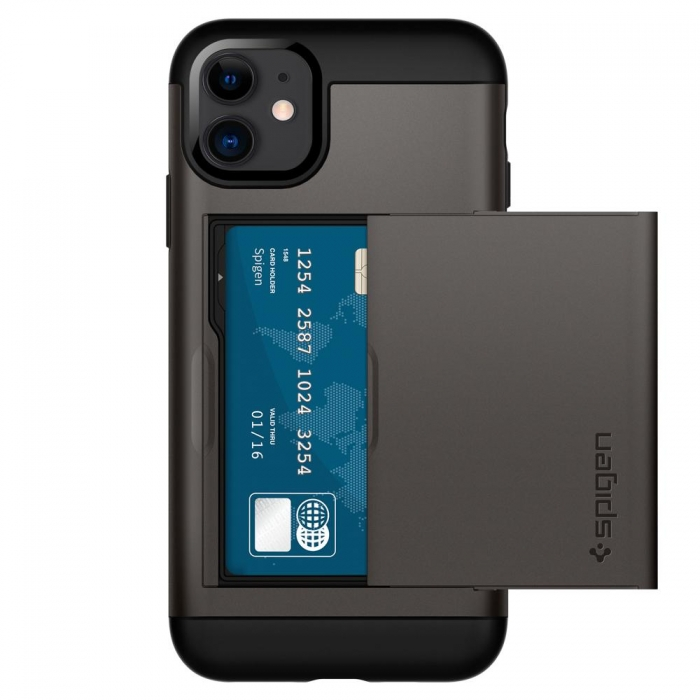 Coque iPhone 11 Spigen® Slim Amor CS-gunmetal (80)