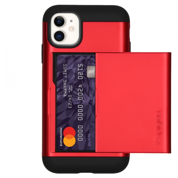 Coque iPhone 11 Spigen® Slim Amor CS-red (80)